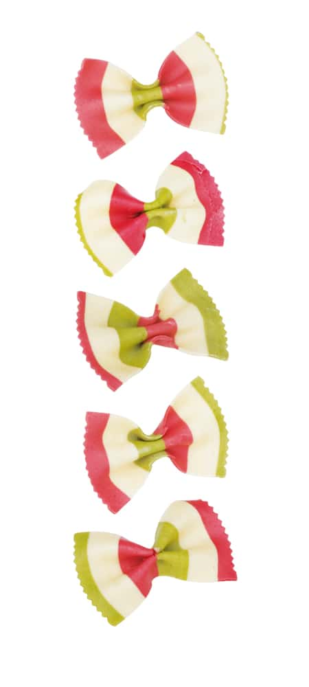 Dreifarbige Farfalle