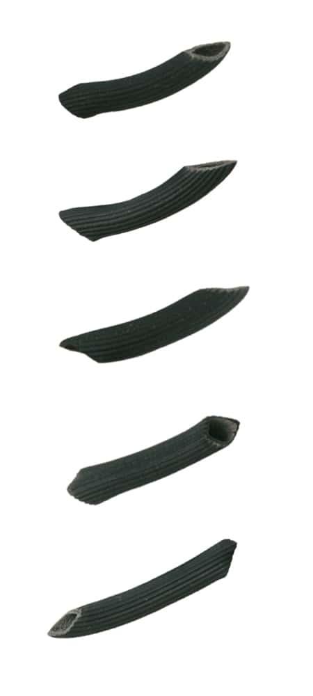 Schwarze Penne mit Tintenfisch Tinte