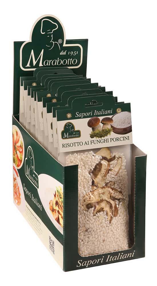 Risotti gourmet: espositore in cartone